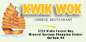 Kwik Wok Chinese Food Durham 27703 | Call 919-596-0868